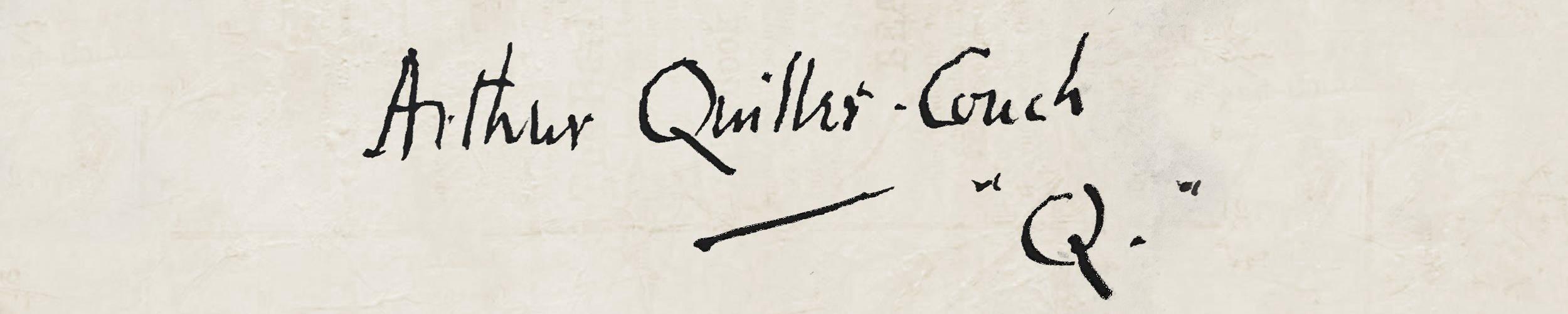 Arthur Quiller-Couch's Signature