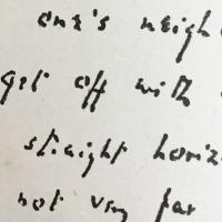 fragment of Q's handwriting
